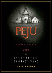 Peju Province Napa Valley Rutherford Reserve Estate Bottled Cabernet Franc 2005