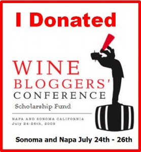 Wine Bloggers' Conference Scholarship Badge