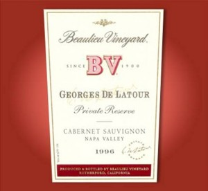 Beaulieu Vineyard Georges de Latour Private Reserve Cabernet Sauvignon 1996