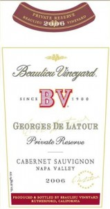 Beaulieu Vineyard Georges de Latour Private Reserve Cabernet Sauvignon 2006