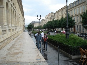 Touring the city of Bordeaux, near the Opera