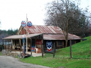 Old Standard Oil station, Sheep Ranch, Calaveras County