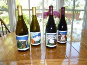 Gavin Chanin art & labels - Chanin Wine Company