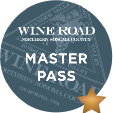 Now that you�ve tasted SIX Wine Road wines, sample just ONE more from either Alexander, Dry Creek or Russian River to earn the Wine Road MASTER badge!  Then tell your friends about it.  Taste, rate, review, share!